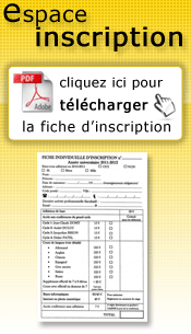 Fiche d'inscription 2018-2019